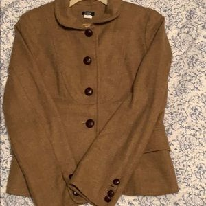 JCrew Size 10 Carmel Wool Blazer, Like New